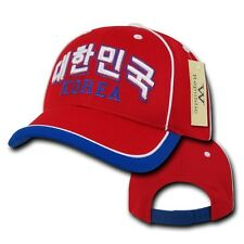 Red Korea Soccer Football Dri Cool Mesh World Cup Adjust Baseball Hat Cap