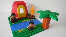 Lego Duplo - CAVEMEN Set - Cave House, Figures, Board, Fire - 4 Dinosaur sets