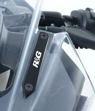 R&G RACING BLACK MIRROR BLANKING PLATES for KTM RC125, 2014 to 2016
