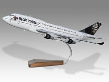 Iron Maiden Boeing Model BOOK OF SOULS ED FORCE 1 747-400 1/200 Scale Plane RARE