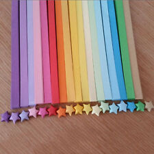 80pcs Origami Lucky Star Paper Strips Folding Paper Ribbons Colors KT15