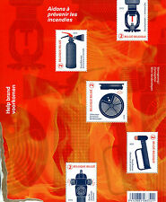 Belgium 2017 MNH Prevent Fire Prevention Saved From Flames 5v M/S Stamps