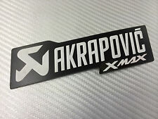 Adesivo Stickers AKRAPOVIC Xmax X max black Alte Temperature High Temperatures