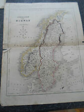 Antique Map SWEDEN & NORWAY - From The College Atlas For Schools+Families 1860