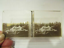 plaque verre stereo photo guerre 14 18 militaire avion allemand abattu verdun 12
