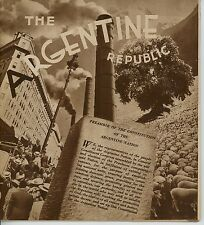 1939 Argentine Republic Travel Brochure Booklet Argentina South America Photos