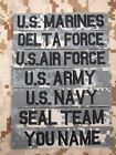 ACU Chest Tapes Custom name Tapes ARMY SEAL NAVY AIR Embroidery Velcro Patch