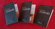 Lot of 3 Terre D'Hermes 0.06 oz / 2 mL Hermes Eau de Toilette Sample Via Spray