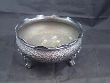 ANTIQUE VICTORIAN 1854 HARTFORD QUADRUPLE SILVER PLATED CLAW FOOTED BOWL