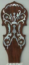 Banjo Inlays Florentine Mother of  Pearl Inlaid Rosewood Peghead Overlay  Gibson