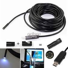 Endoscopio Boroscopio Inspección Cámara De Video Lupa Impermeable 6 Led USB ENE