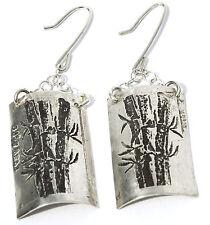Sterling Silver Fine Jewellery Japanese Bamboo Earrings custom handmade