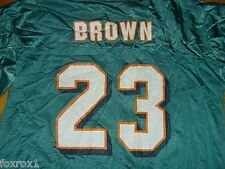 Miami Dolphins Jersey Vintage NFL Authentic Reebok Green Number 23 Brown Size XL