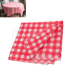 Red Oil Cloth Yardage Disposable Tablecloth Gingham Check One-time Wedding Party