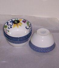 """Ralph Lauren  Mandarin Blue Small  Fruit Bowls S/4 NWT  4 1/2"""" X 2 1/2"""""""