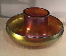 Steuben Aurene Antique Magnificent Iridescent Polka Dot Glass Center Bowl