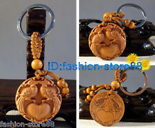 Hot! Beautiful Classical Carved Magpies wooden key chain keyring (Lucky Magpies)