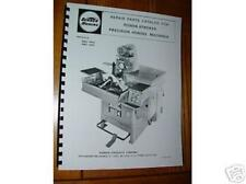Sunnen MBC-1803 & 1804 Honing Machine Parts Manual to Serial 86000