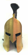 MEDIEVAL KING LEONIDAS HELMET ROMAN HELMET SPARTAN 300 MOVIE WITH BLACK PLUME