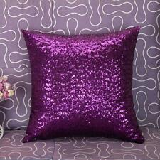 UK Solid Color Glitter Sequins Throw Pillow Case Lounge Cafe Decor Cushion Cover