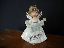 Vintage Birthday Angel September Ceramic Small See pics for size