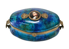 PM Sevres Porcelain Box with Miniature Hand painted Napoleon Portrait c1900