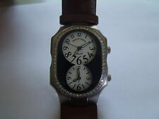Philip Stein Teslar Men's Watch, 58 Full Cut Diamond, 1.26 Ct. Leather Strap NEW