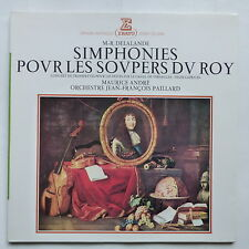 DELALANDE Simphonies soupers du Roy MAURICE ANDRE Orch JF PAILLARD STU 70185