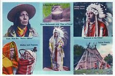 Native American Indian Chief, Teepee etc., Portland Oregon OR -- Modern Postcard