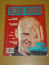RECORD MIRROR 1990 APRIL 14 JIMMY SOMERVILLE ORBITAL