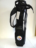 """TaylorMade 2014 MicroLite 2.0 Stand Bag """"Steelers"""" Black/White NEW 6313"""