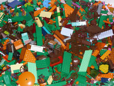 LEGO 0,5 kg Lego bricks ca. 350 Pieces green orange brown shocking pink Stone