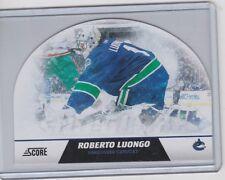 10-11 2010-11 SCORE ROBERTO LUONGO SNOW GLOBE DIE CUTS 9 VANCOUVER CANUCKS