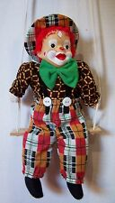 Ashley Belle Clown Doll on Swing with porcelain face