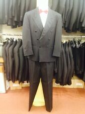 Mens Wellington Self Stripe Executive Wool Worsted Double Breast Dinner Suit