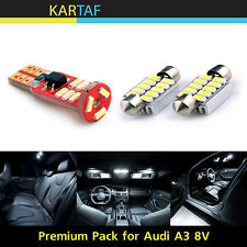 7x For Audi A3 8V S3 Sedan LED Interior Pack Canbus Error Free Dome Light w Tool