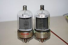 HIGH OUTPUT PAIR RCA 6883 VINTAGE TUBES - GM TESTED SUPERB!