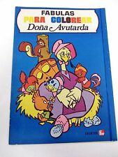 Coloring Book Spanish - Fabulas Para Colorear Dona Avutarda - Clean & New