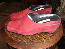 VTG. Gently worn RED SUEDE WEDGES by Ann Marino-6.5- SELLING THE BLACK ONES TOO!