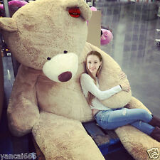 Hot 200CM SUPER HUGE TEDDY BEAR (ONLY COVER) PLUSH TOY SHELL (WITH ZIPPER) 79""