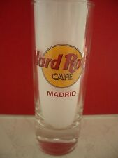 HRC Hard Rock Cafe Madrid Classic Logo Red Letter Shot Glass Schnapsglas New