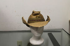 Summer Club Sun Protection Cowboy Western Style HAT Guitar Emblem