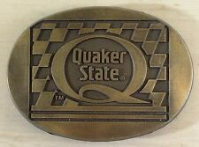 "Solid Brass Quaker State Belt Buckle 3½"" x 2½"" Stocking Stuffer for Men"