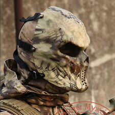 Paintball Cosplay Game Airsoft MetalMesh Eye Protect Full Face Mask-Skull Hland