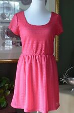 Lily Rose Pink Lace Fit & Flare Dress M