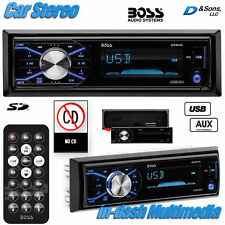 NEW BOSS Audio In-Dash Mechless MP3/USB/SD Player Car Stereo Radio w/Aux-input