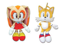 NEW SET OF 2 SONIC THE HEDGEHOG STUFFED PLUSH DOLL TOYS- CREAM THE RABBIT/ TAILS