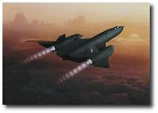 """The Final Ascent"" Dru Blair Signed Print - SR-71 Blackbird #972 Last Flight"