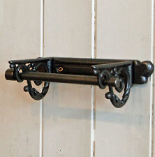 Richmond Victorian style cast metal wall mounted toilet loo roll holder.