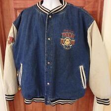 Disney Store Denim Jean Varsity Winnie the Pooh Winter Jacket XXL Quilt lining
